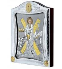 Икона Святой Андрей Первозванный - Греческая икона с серебром, на подарок (MA-E3431)