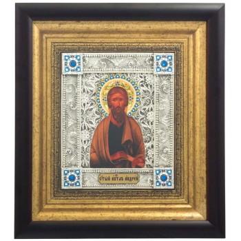 Апостол Андрей Первозванный - шикарная икона, с серебром (k-03)