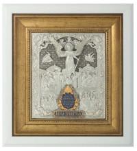 Ангел-Охоронець - ікона в красивому окладі зі сріблом, білий кіот (ЮЛ-02/W)