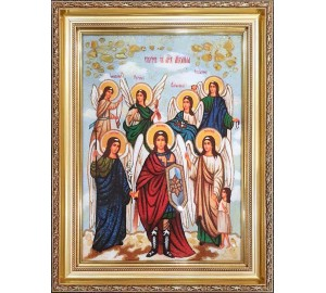 Собор Архистратига Михаила - Икона из янтаря (ар-349)