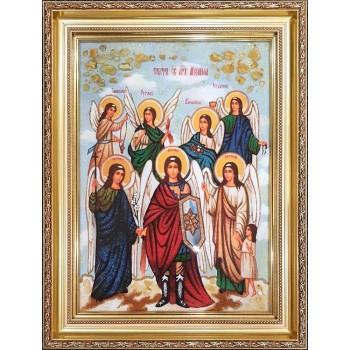 Собор Архистратига Михаила (Архангела Михаила) - Икона из янтаря купить Киев, интернет-магазине Иконный Двор