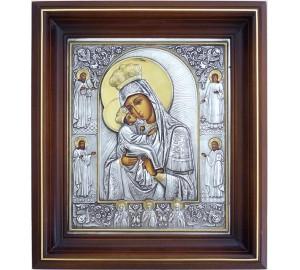 Божья Матерь Почаевская - икона с серебром (ол-03)