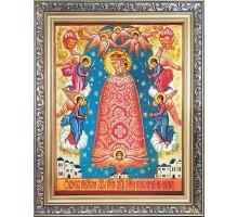 Прибавление ума - икона из янтаря (ар-385)