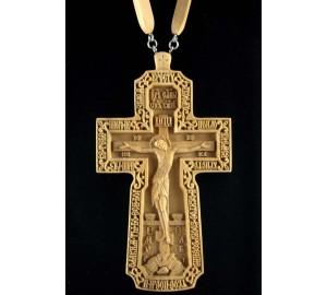 Иерейский резной крест (с цепочкой) (Rev-k-12)