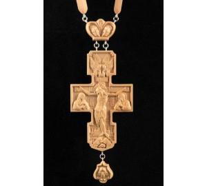 Крест из натурального дерева, с красивой цепочкой (Rev-k-07)