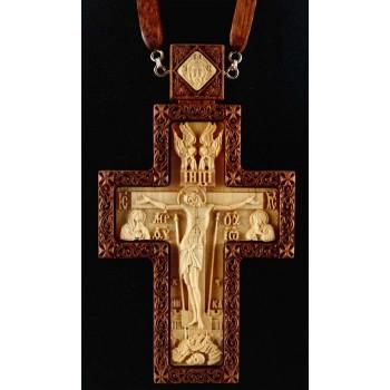 Крест наградной из красного дерева (Rev-k-09/1)