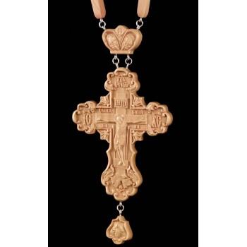Нагородний хрест з натурального дерева, з ланцюжком (Rev-k-03)