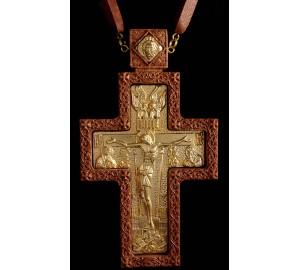 Крест наградной с красным деревом и золочением (Rev-k-09/3)