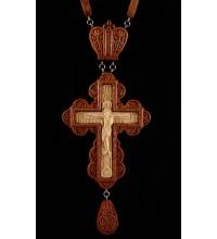 Крест наперсный наградной, из красного дерева (Rev-k-№6/1)