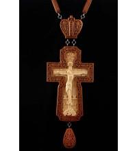 Крест наперсный наградной, из красного дерева (Rev-k-№8)