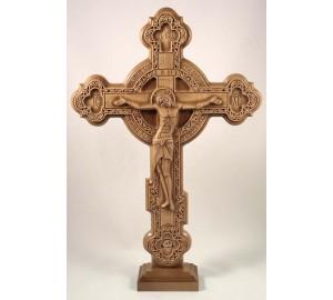 Крест резной, на подставке (Rev-kr-04)