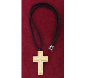 Крест с цепочкой, натуральное дерево (Rev-k-10)
