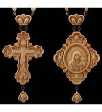 Набор крест наградной и панагия Божья Матерь Казанская (Rev-02/01)