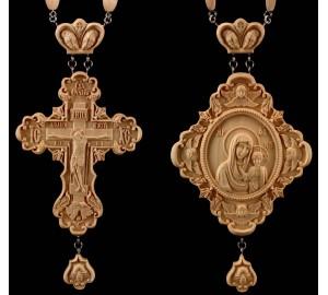 Набір нагородний хрест і панагія Божа Матір Казанська (Rev-02/01)