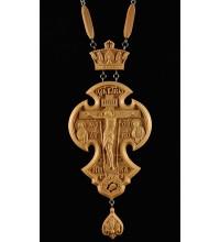 Наградной крест с цепочкой, натуральное дерево (Rev-k-№9)