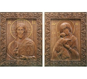Вінчальна пара Спаситель і Богородиця (р-05)