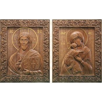 Венчальная пара Спаситель и Богородица (р-05)