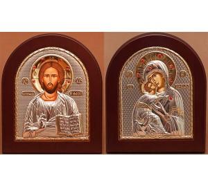 Венчальная пара Христос и Владимирская Божья Матерь (STONE)