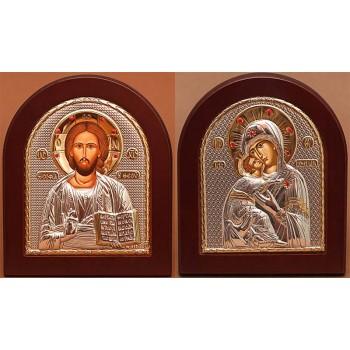 Вінчальна пара Христос і Володимирська Божа Матір (STONE)