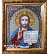 Икона Спасителя Вседержителя - Икона ручной работы вышитая бисером (бю-2)