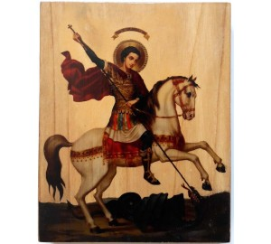 Икона под старину Чудо Георгия о змие (ХМ-101)