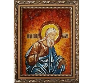 Адам - Именная икона ручной работы из янтаря (ар-122)