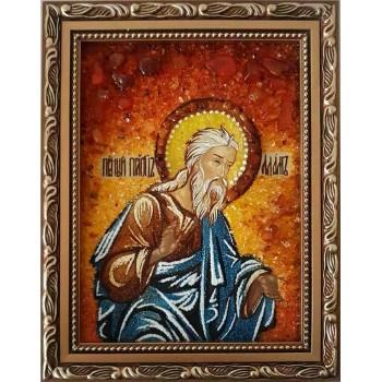Адам - Іменна ікона ручної роботи з бурштину (ар-122)