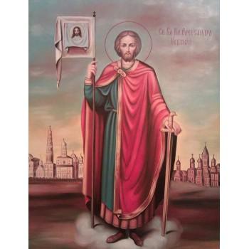 Александр Невский - писаная икона (Гр-60)