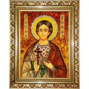 Александр Римлянин - янтарная икона (ар-319)