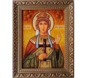 Александра - именная икона из янтаря (ар-251)