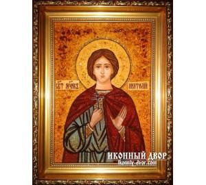 Анатолій - Ікона з янтаря (бурштину) іменна ручної роботи (ар-190 )