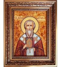 Анатолій Константинопольський, патріарх - ікона з янтаря (ар-380)