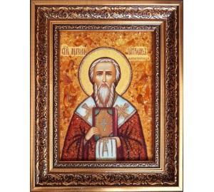 Анатолий Константинопольский, патриарх  - икона из янтаря (ар-380)