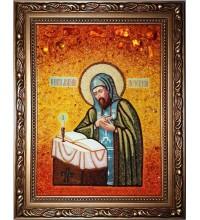 Анатолій Печерський - ікона з бурштином (ар-70)