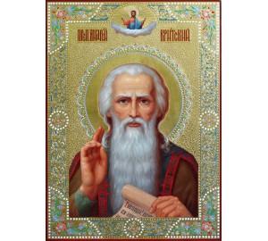 Андрей Критский - писаная икона, с сусальным золотом (ир-36)