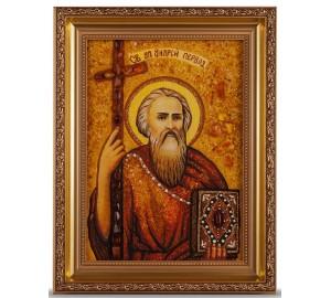 Андрей Первозванный - Бесподобная Икона из янтаря (ар-2)