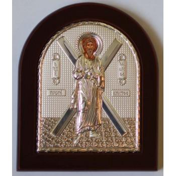 Андрей Первозванный - Греческая икона с серебром 11х13 см (EK3XA)
