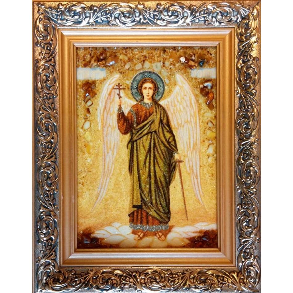 Икона Ангела Хранителя в золотом окладе russische Ikone