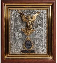 Ангел-Охоронець - ікона в красивому окладі зі сріблом, кіот (ЮЛ-02)