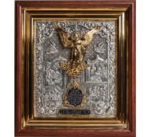 Ангел-Хранитель - икона в красивом окладе с серебром, киот (ЮЛ-02)