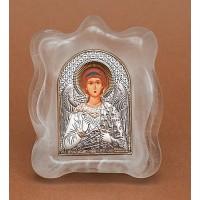 Ангел-Охоронець - Ікона в муранском склі Срібло 925°, позолота (EK1MAG-172)