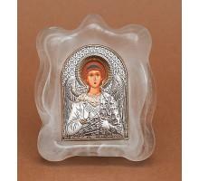 Ангел-Хранитель - Икона в муранском стекле Серебро 925°,  позолота (EK1MAG-172)