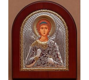 Ангел-Хранитель - Подарочная икона из Греции с серебром и позолотой 15*19 см (EK4-172XAG)