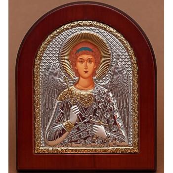 Ангел-Охоронець - Подарункова ікона з Греції з сріблом і позолотою 15*19 см (EK4-172XAG)