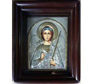 Ангел Хранитель - Писаная икона в окладе с серебром (хм-35)