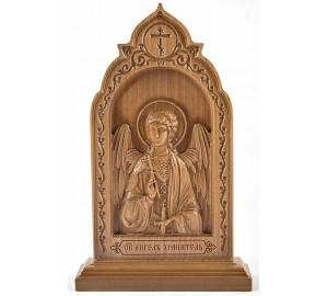 Ангел-Хранитель - резная икона (ДВ-11)