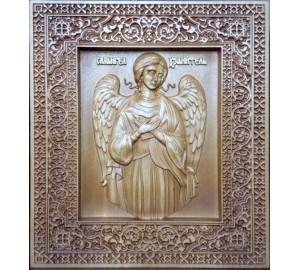 Ангел-Хранитель - резная икона из натурального дерева (р-40)