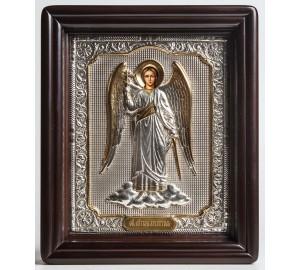Ангел Хранитель в полный рост - писаная икона в окладе с серебром (хм-37)