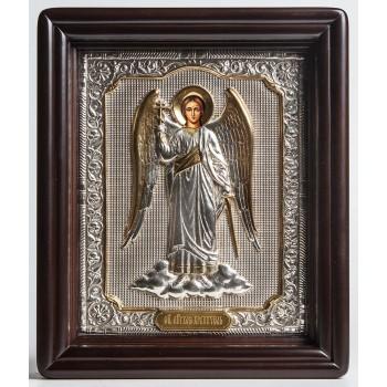 Ангел Хранитель в повний зріст - ікона писана в окладі з сріблом (хм-37)