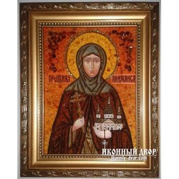 Анимаиса -  Качественная икона ручной работы из янтаря (Анимаиса)